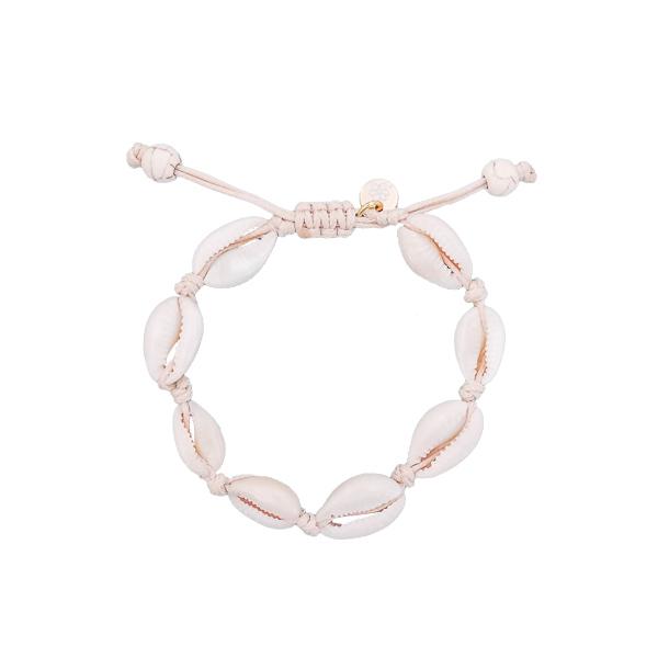 bracelets coquillages blanc