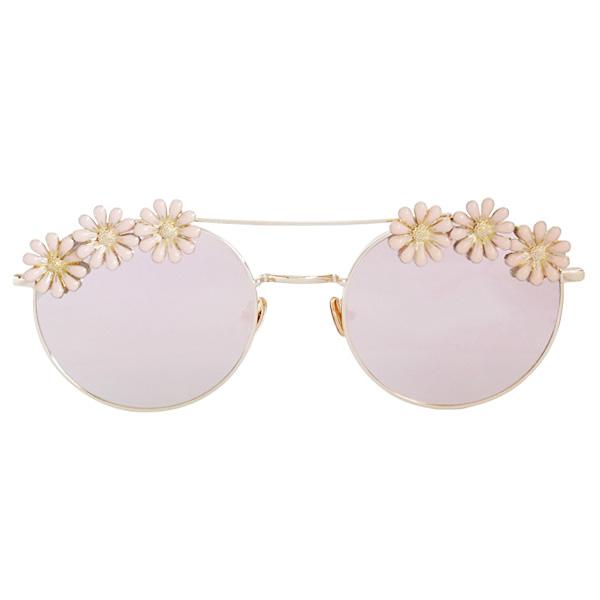 lunettes de soleil rose