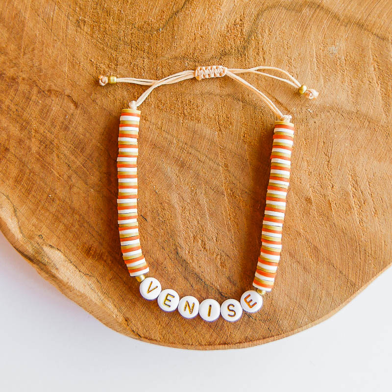 bracelet perles lettres