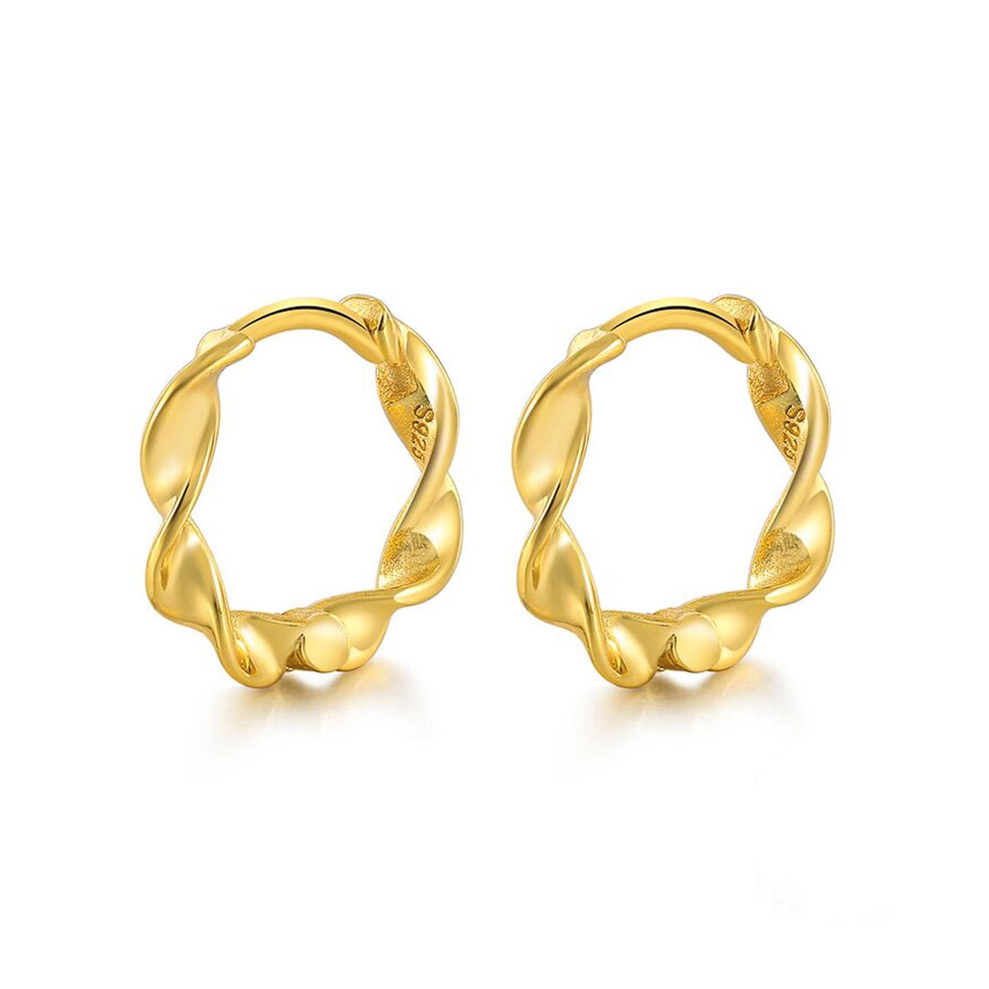 boucles d'oreilles torsadées gold