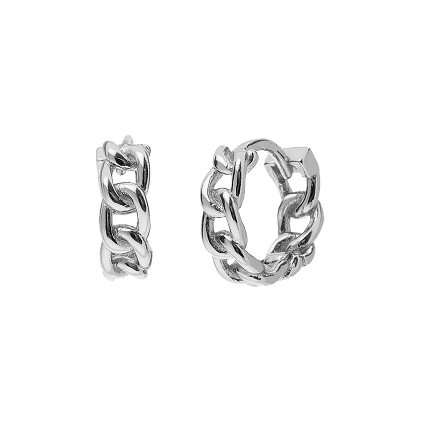 boucles d'oreilles chaines silver