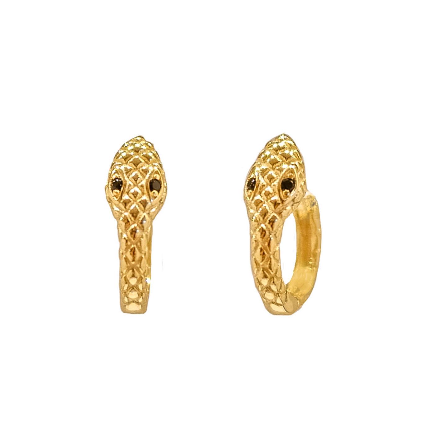 boucles d'oreilles serpents gold