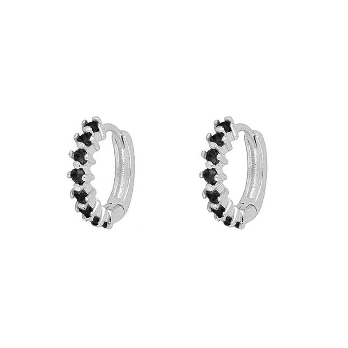boucles d'oreilles anneaux silver