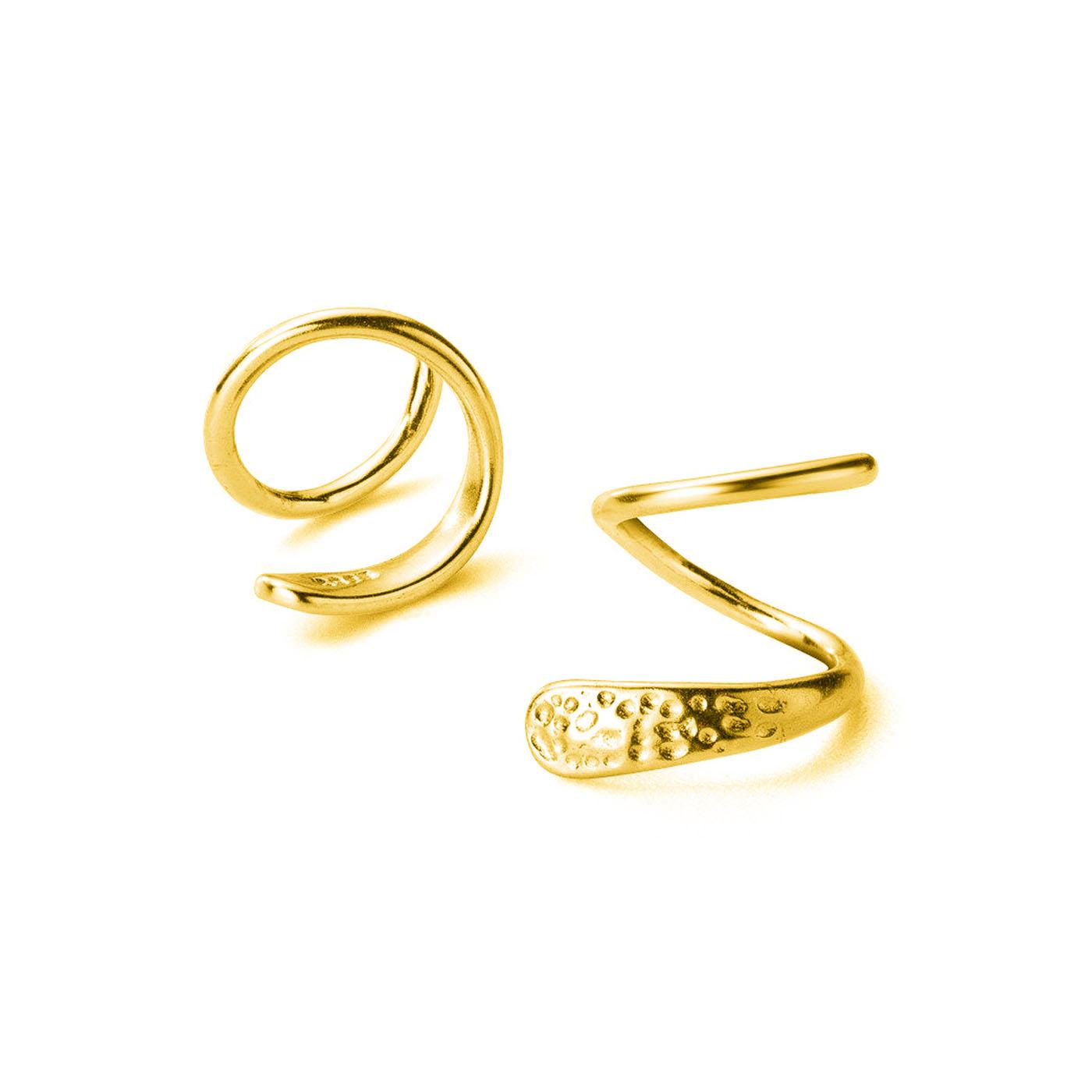 boucles d'oreilles doubles gold