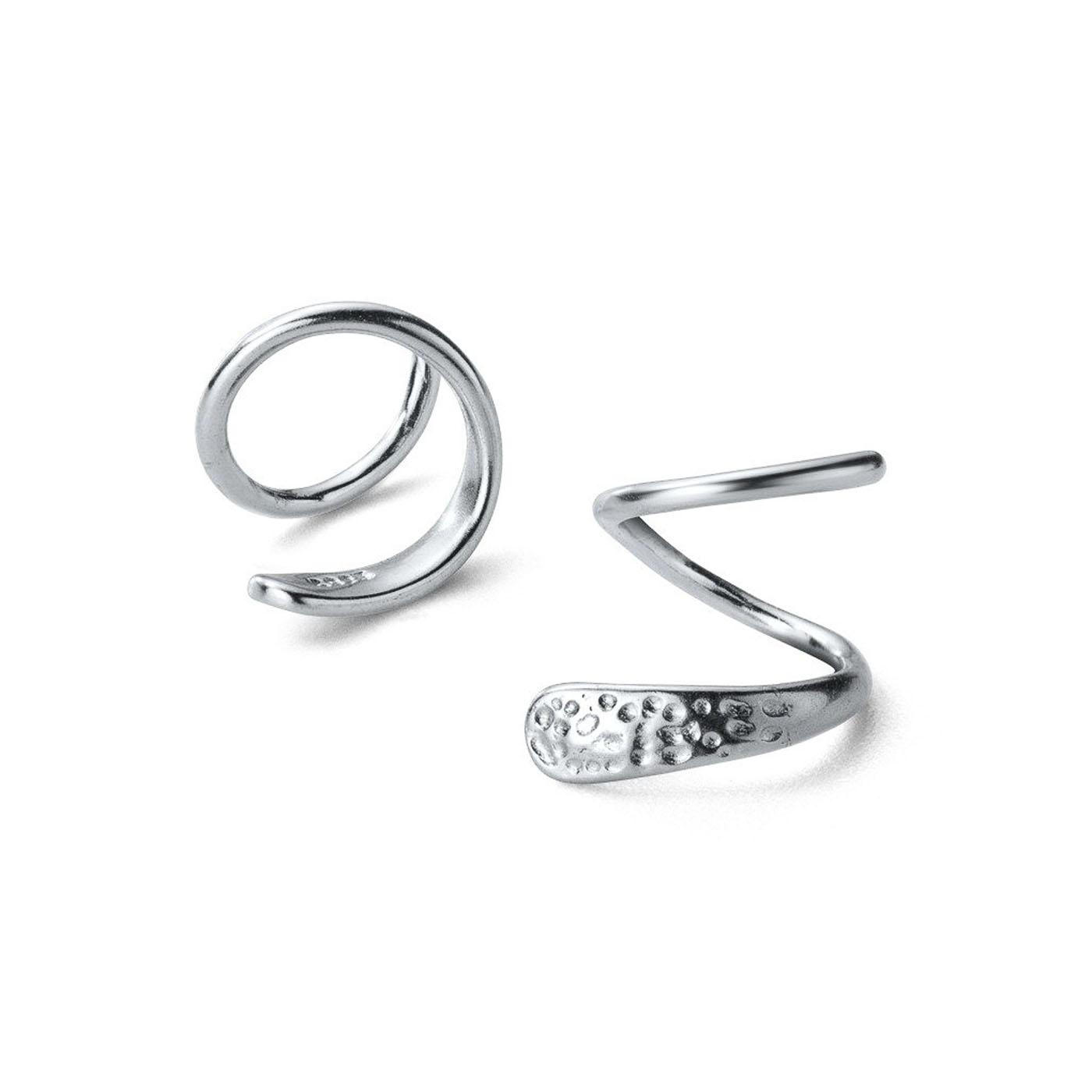 boucles d'oreilles doubles silver