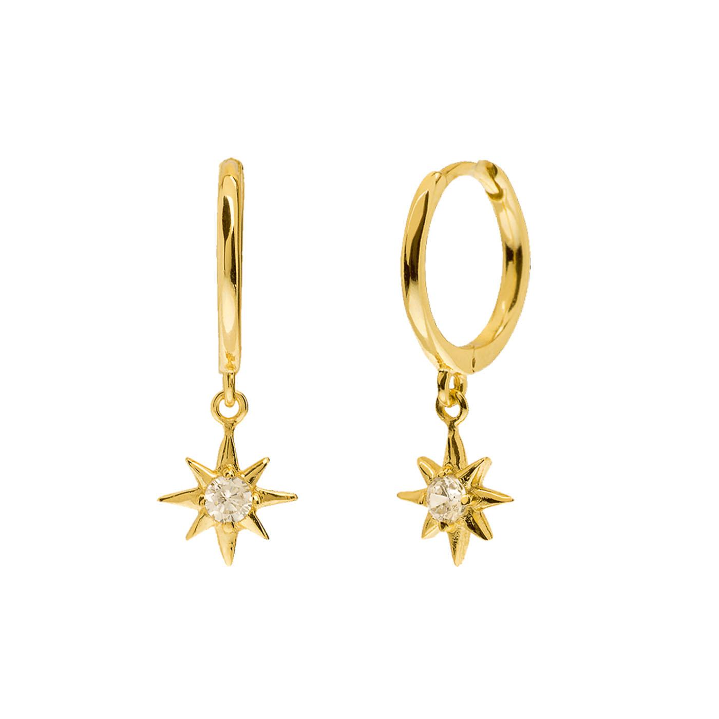 boucles d'oreilles étoiles gold
