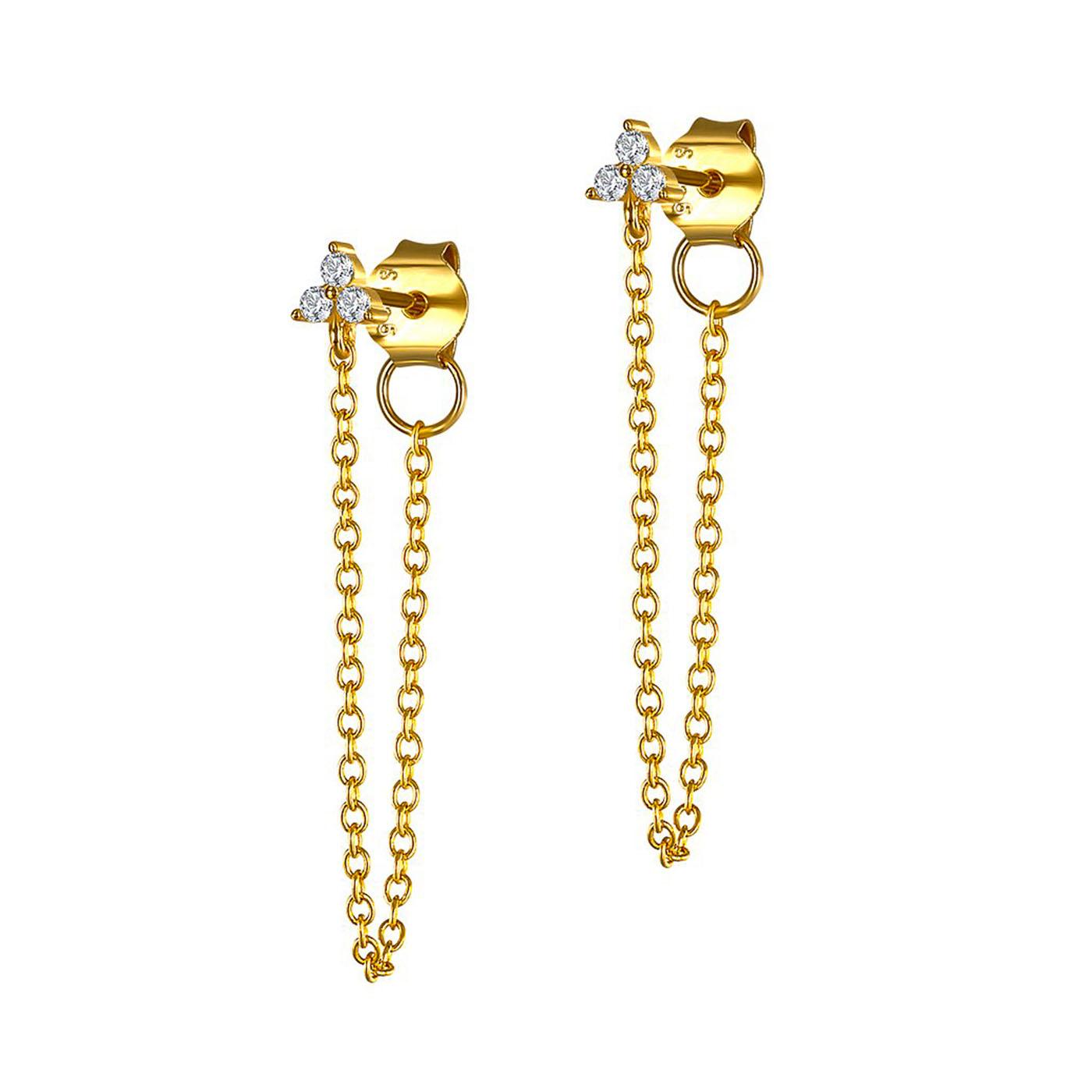 boucles d'oreilles chaines gold
