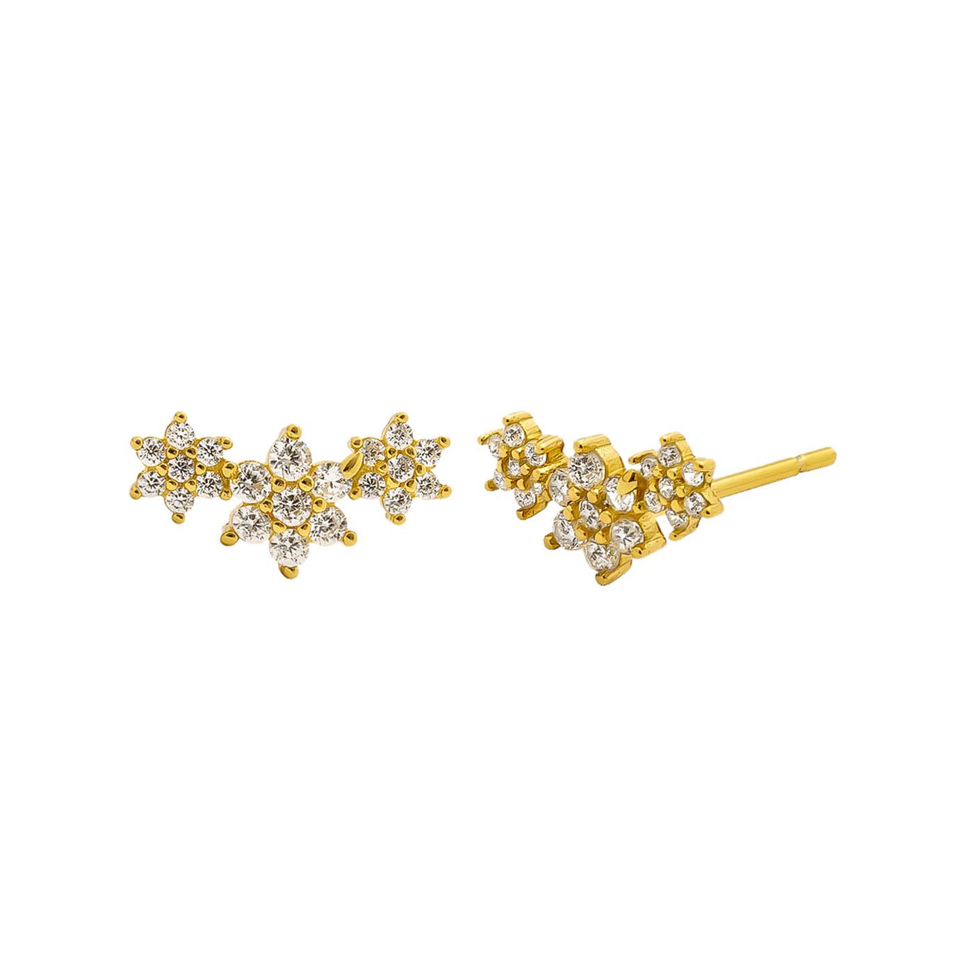 boucles d'oreilles étoiles gold blanc