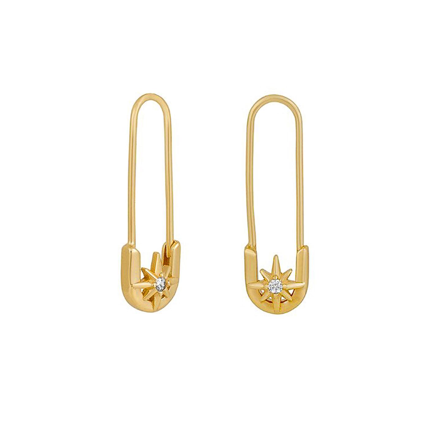 boucles d'oreilles épingles gold