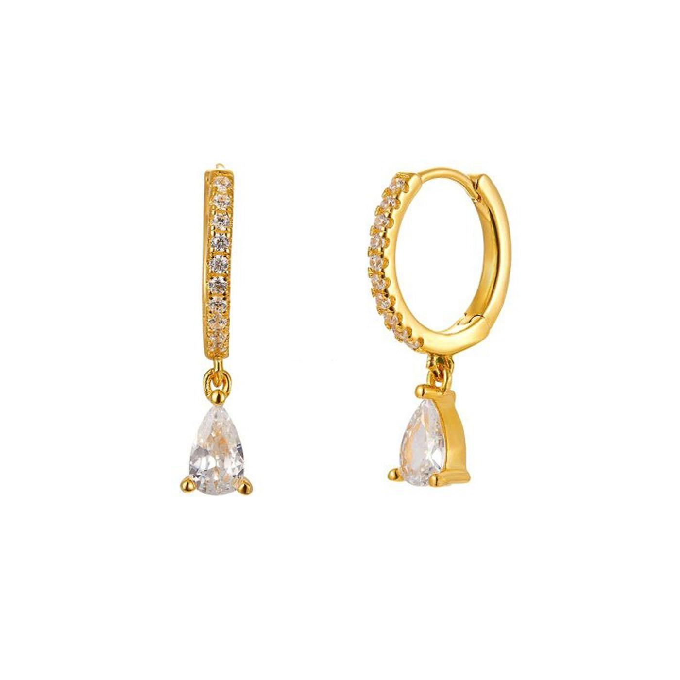 boucles d'oreilles gold pendentif