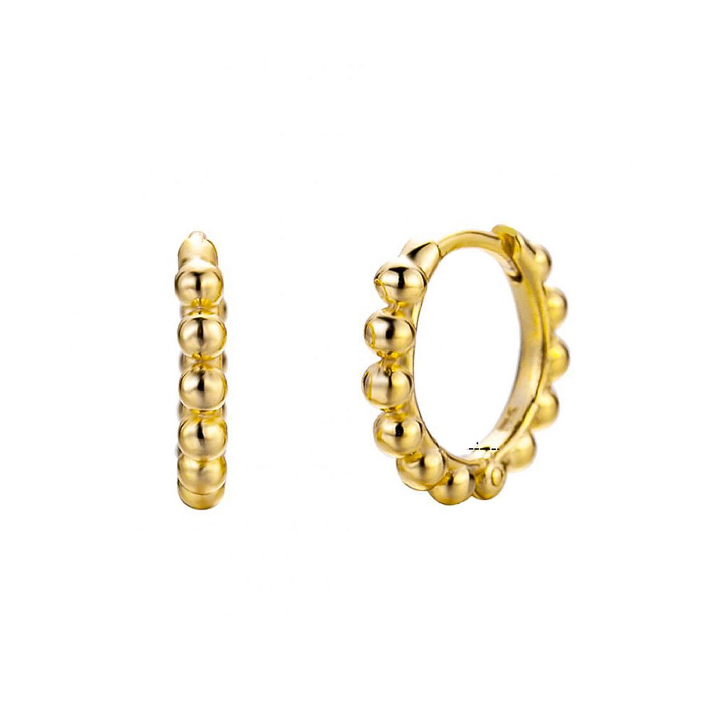 boucles d'oreilles anneaux et perles gold