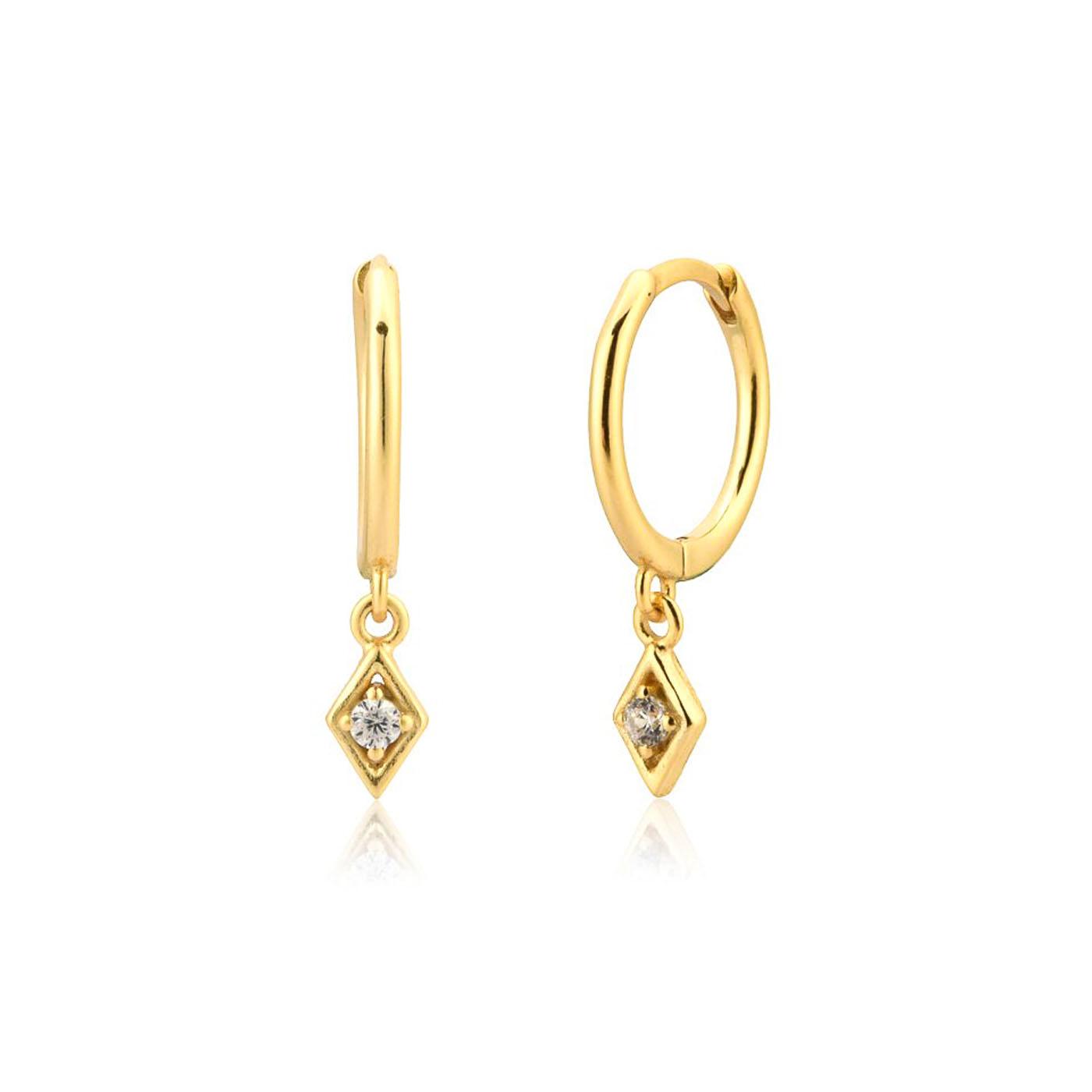 boucles d'oreilles losange gold